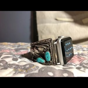 APPLE WATCH BAND/Vintage SS/Turquoise NAVAJO